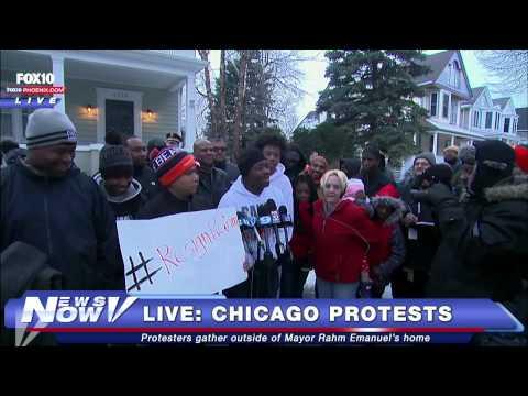 FNN: Protests Outside Chicago Mayor Rahm Emanuel's Home