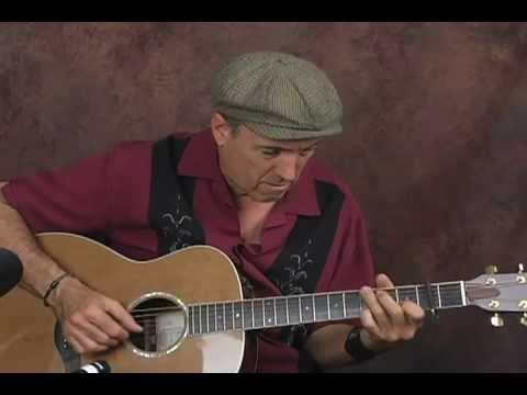 Acoustic ragtime blues guitar lesson fingerstyle piedmont ala Blind Blake with capo