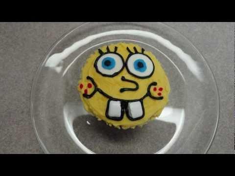 Decorating Cupcakes : Spongebob Squarepants - Spongyabob süti