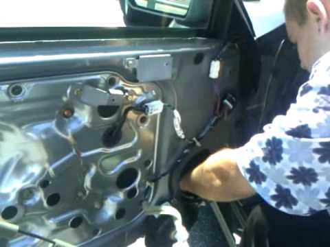 Installing aftermarket door lock actuator on G35 coupe Part 1