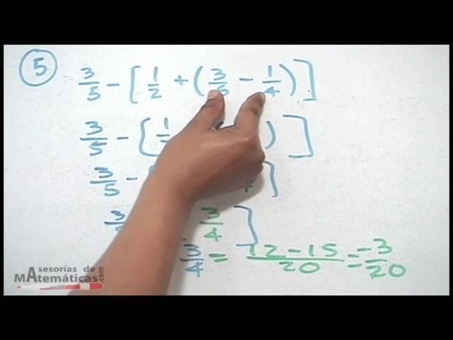 Eliminación de signos de agrupación (reducir términos) - HD