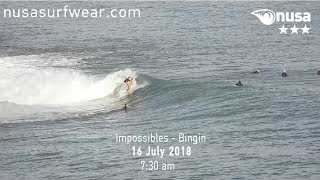 16 - 07 - 2018 /✰✰✰/ NUSA's Daily Surf Video Report from the Bukit, Bali.