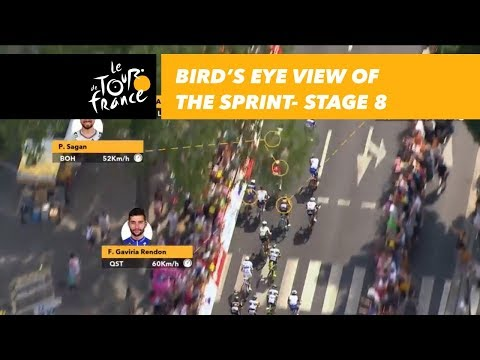 Bird's eye view of the sprint - Stage 8 - Tour de France 2018