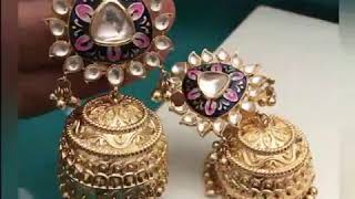 Latest earrings designs with weight | stone earrings|| lifestyle