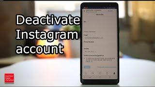 How to deactivate Instagram 2018