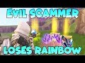 Evil Scammer Loses Rainbow Crystal (Scammer Gets Scammed) Fortnite Save The World