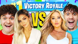 FaZe Jarvis & EX Girlfriend VS FaZe Kay & Girlfriend (Fortnite 1v1 Challenge)