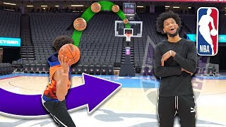 CRAZY Basketball Trickshots Inside NBA Arena vs Marvin Bagley III
