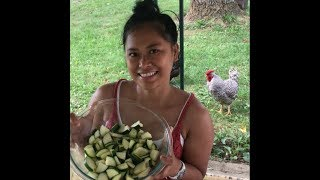 My Beautiful Filipina Wife Makes Her Garden Fresh Zucchini Salad