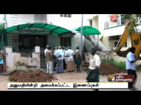 Un-sanctioned drinking water connections disconnected in Tirunelveli