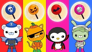 Learn Colors With Halloween Octonauts & Candy For Babies Kids