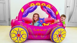 Children Play in Princess Carriage inflatable toys