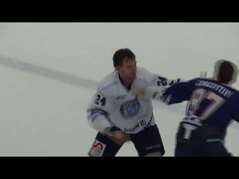 Бокс на льду в игре Трпедо - Динамо (Минск)