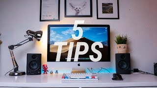 5 QUICK and CHEAP Setup Tips to make your desk look INCREDIBLE