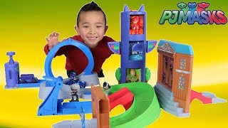 PJ MASKS Toys Rival Racers Track Playset Unboxing With Catboy Gekko Owelette Ckn Toys