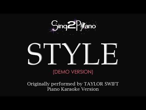 STYLE (Piano Karaoke demo) Taylor Swift