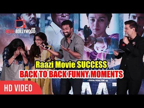 Raazi Movie Success Party | All Funny Moments | Alia Bhatt, Karan Johar, Vicky Kaushal thumbnail