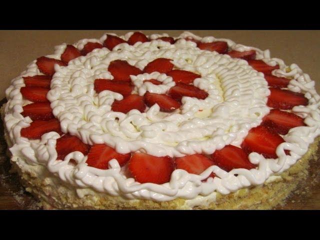 Песочный торт с клубникой, торты рецепты кулинария на kylinarik.ru
