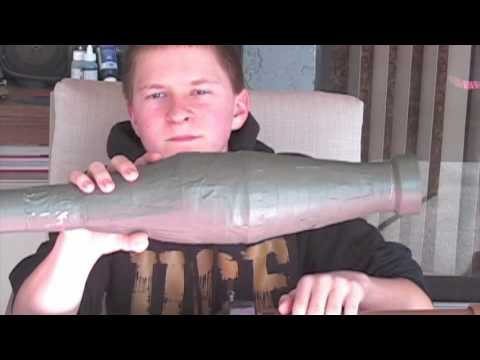 Homemade Airsoft RPG-7 Style 40mm Grenade Launcher (Part 2)