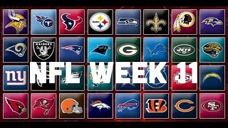 NFL Week 11 Picks & Predictions 2018 | 2019