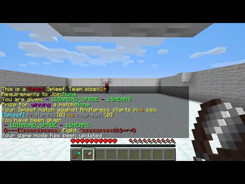 Minecraft Bukkit Plugin - Arena Spleef - Battle Arena - Break the Floor!