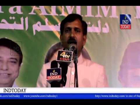AIMIM UP Leader Saleem of Azamgarh UP speech at AIMIM Jalsa Halath e Hazra Warasiguda