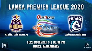 Match 9 - Galle Gladiators vs Jaffna Stallions | LPL 2020