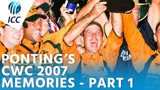 """Ponting's World Cup Memories 