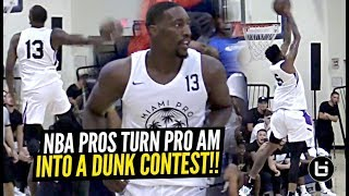 DON'T TEST NBA PLAYERS! Derrick Jones Jr & Bam Adebayo Put Down INSANE Dunks at Miami Pro League!!