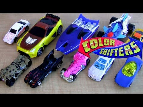 10 color shifters cars Hot Wheels Water toys