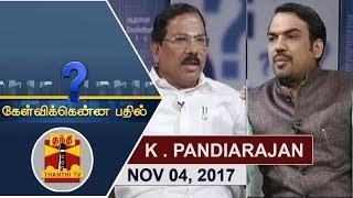Kelvikkenna Bathil 04-11-2017 Exclusive Interview with Ma.Foi Pandiarajan   Thanthi Tv