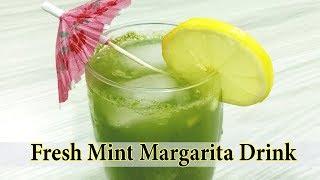 Mint Margarita Fresh Drink Recipe l Nimbu Pudina Sharbat l Food Tech