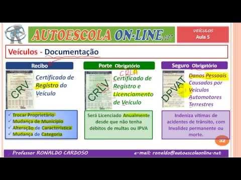 05 VEÍCULOS, DOCUMENTOS, EQUIPAMENTOS - LEGISLAÇÃO DE TRÂNSITO EM AUTOESCOLA