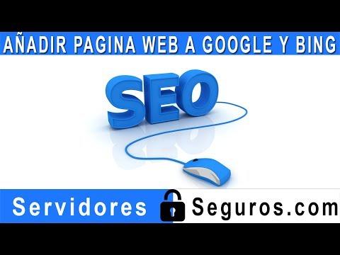 AÑADIR URL DE TU PAGINA WEB A GOOGLE Y BING