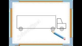 BÉ HỌA SĨ - Thực hành tập vẽ 231: Vẽ xe tải