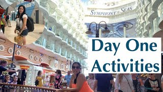 SYMPHONY OF THE SEAS | BOARDING THE SHIP FROM MIAMI |  ROYAL CARIBBEAN CRUISE LINE DAY 1