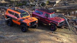 REDCAT GEN8 SCOUT II vs TRAXXAS TRX4 BRONCO on the Rocks and in the water