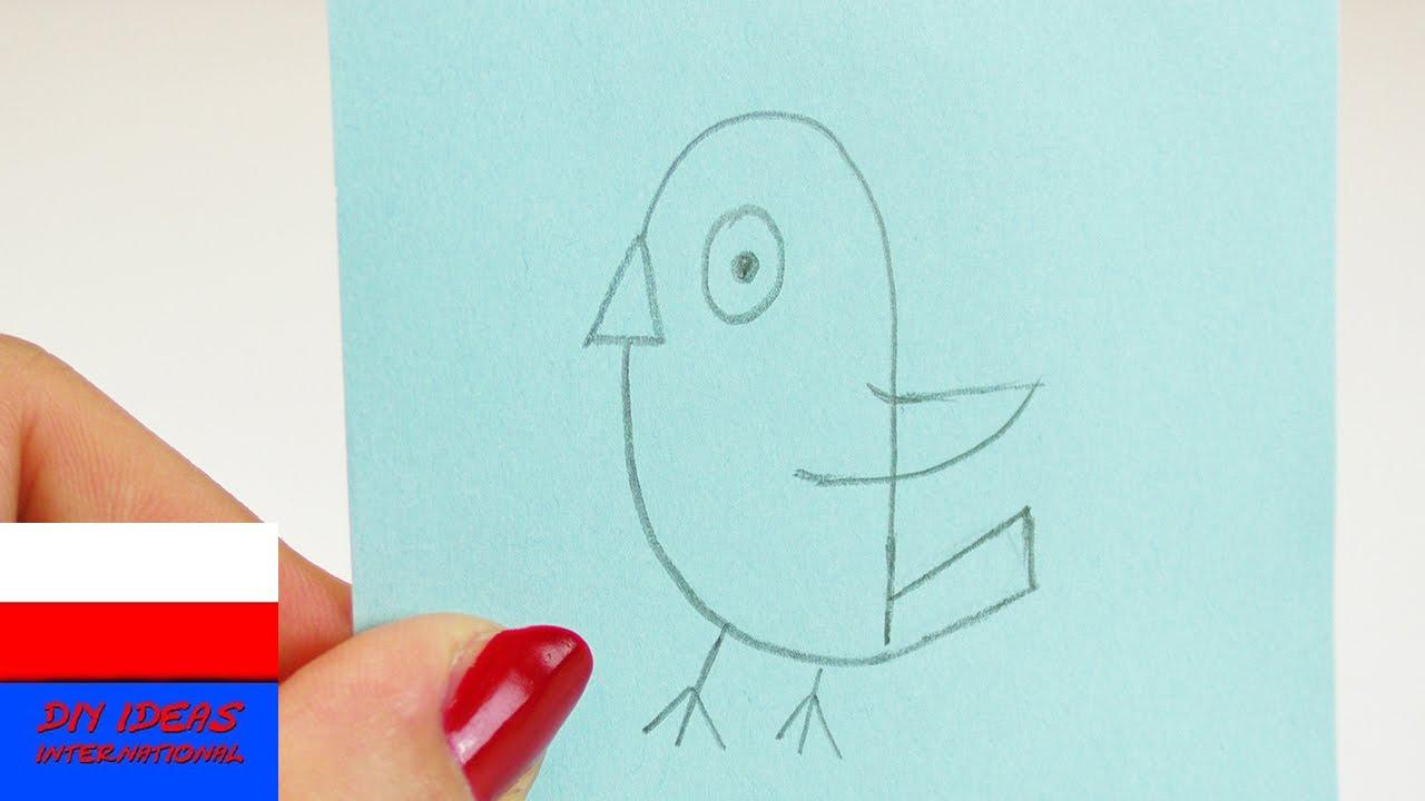 Malowanie i rysowanie   prosty obrazek dla dzieci   wróbelek ćwirek w 60 sekund