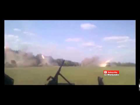 Ukraine War 2015   Massive Grad Rocket Launch Eastern Ukraine