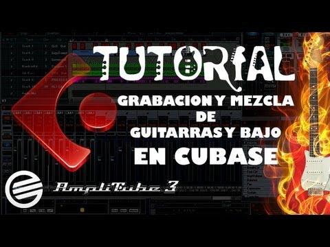 Grabacion, Mezcla de guitarras y bajo en Cubase Tutorial