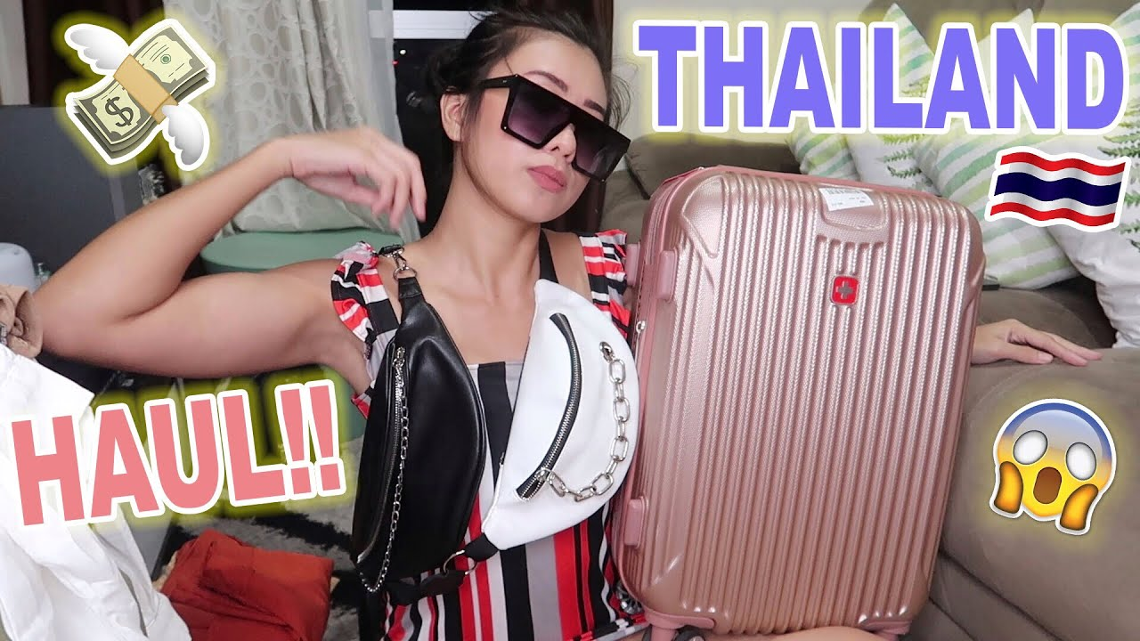 THAILAND HUGE SHOPPING HAUL!! (Bags, Clothes & More)