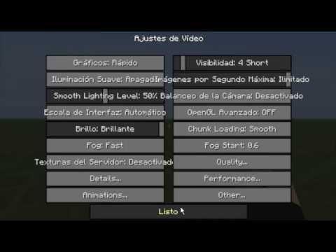 Minecraft 1.7.2 I La mejor configuración para el optifine (Hacer que tu minecraft vaya mas rapido)