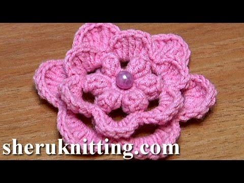 Crochet Layered Flowers Crochet Layered Flower How to