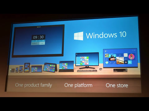 Windows 10 Announcement and Tech Preview