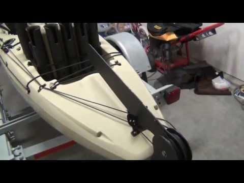 Homemade fixed. retractable kayak rudder (Skeg) Part 3