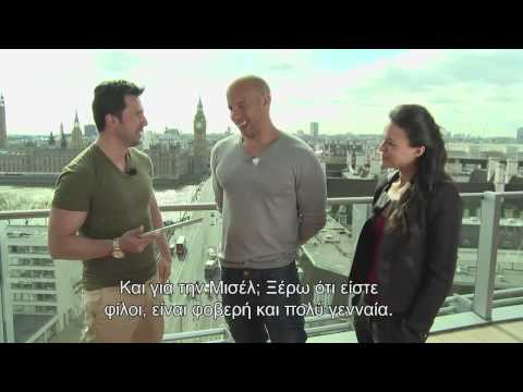 Vin Diesel speaks Greek on MTV Greece!