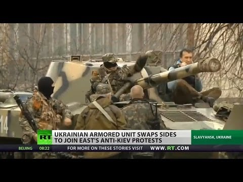 Ukrainian military units defect in Slavyansk