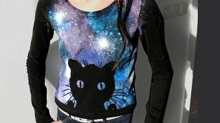 Cat Galaxy Shirt - DIY