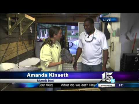5/21/13 Amanda Live at Seven Seas Fish Market - Good Morning Carolinas