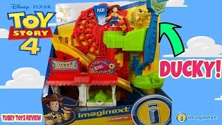 New Toy Story 4 Toys Carnival Imaginext Playset with Ducky & Woody Tubey Toys